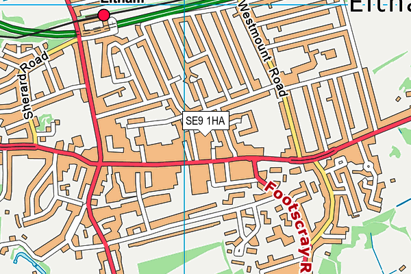 The Eltham Centre map (SE9 1HA) - OS VectorMap District (Ordnance Survey)