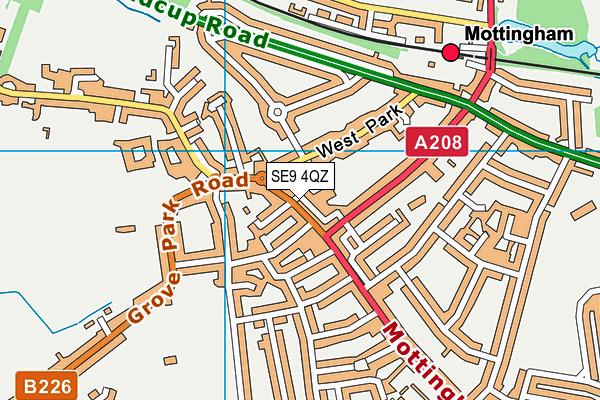 Mottingham Library map (SE9 4QZ) - OS VectorMap District (Ordnance Survey)