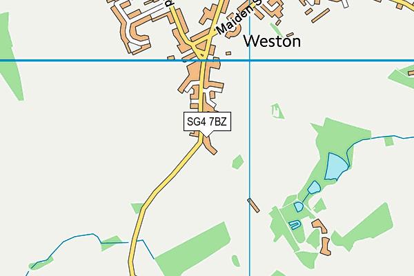 SG4 7BZ map - OS VectorMap District (Ordnance Survey)