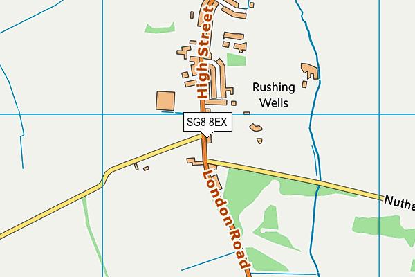 SG8 8EX map - OS VectorMap District (Ordnance Survey)