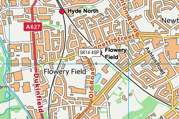 Hyde Community College map (SK14 4SP) - OS VectorMap District (Ordnance Survey)
