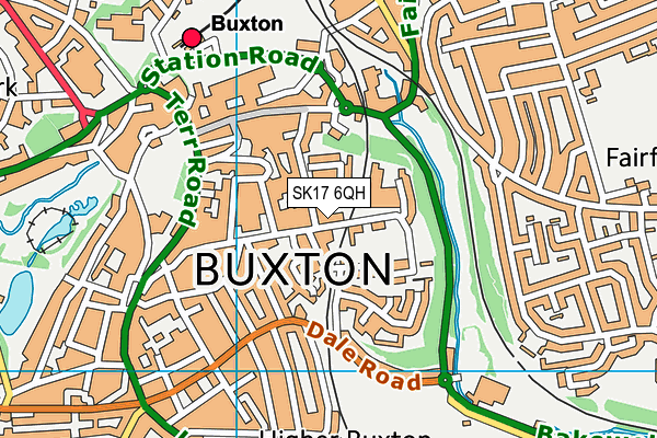 Buxton Fc (The Tarmac Silverlands Stadium) map (SK17 6QH) - OS VectorMap District (Ordnance Survey)