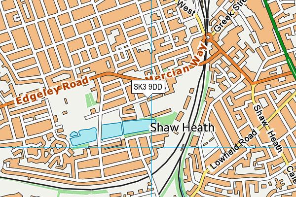 Edgeley Park Stadium (Stockport County Fc) map (SK3 9DD) - OS VectorMap District (Ordnance Survey)