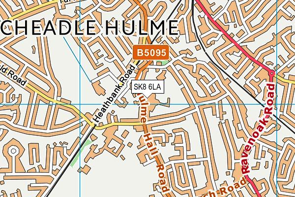 Buttersfield map (SK8 6LA) - OS VectorMap District (Ordnance Survey)