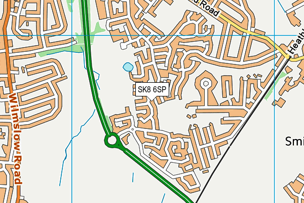 Eden Park map (SK8 6SP) - OS VectorMap District (Ordnance Survey)