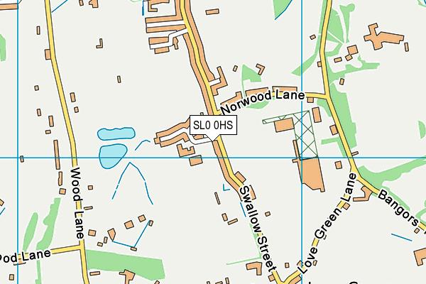 Evreham Sports Centre, Iver map (SL0 0HS) - OS VectorMap District (Ordnance Survey)