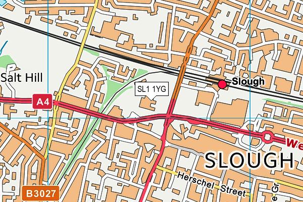 Grove Academy map (SL1 1YG) - OS VectorMap District (Ordnance Survey)