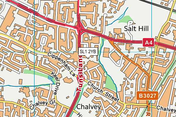 Map of SLOUGH TRAVEL LTD at district scale
