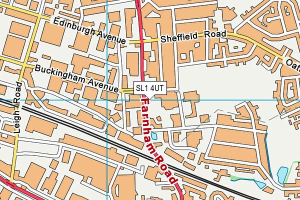 The Centre (Slough) map (SL1 4UT) - OS VectorMap District (Ordnance Survey)