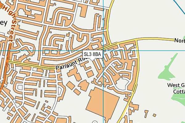 Langley Leisure Centre map (SL3 8BA) - OS VectorMap District (Ordnance Survey)
