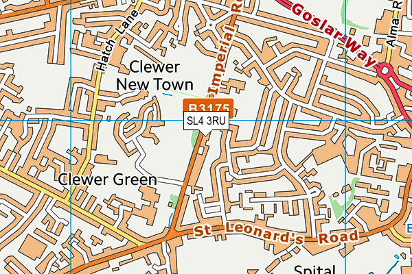 The Lawns Nursery School map (SL4 3RU) - OS VectorMap District (Ordnance Survey)
