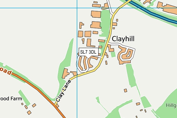 Map of CLAYMOOR ESTATE RESIDENTS LIMITED at district scale