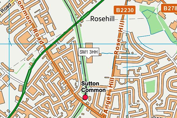 Sutton Sports Village map (SM1 3HH) - OS VectorMap District (Ordnance Survey)