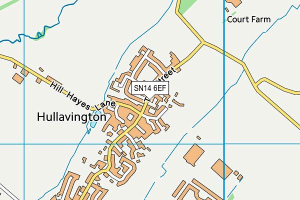 Hullavington C Of E Primary & Nursery School map (SN14 6EF) - OS VectorMap District (Ordnance Survey)