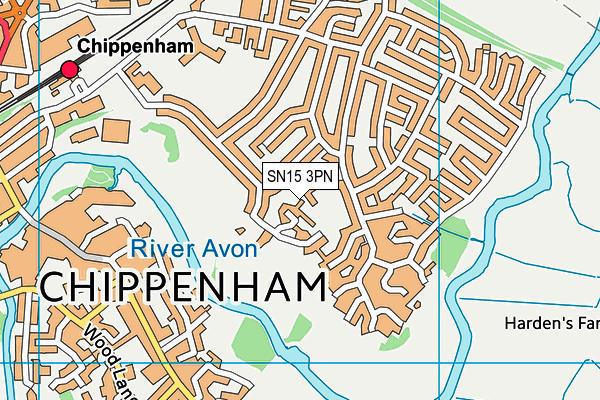 Monkton Park Primary School map (SN15 3PN) - OS VectorMap District (Ordnance Survey)