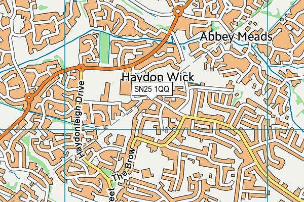Haydon Centre and Gym map (SN25 1QQ) - OS VectorMap District (Ordnance Survey)