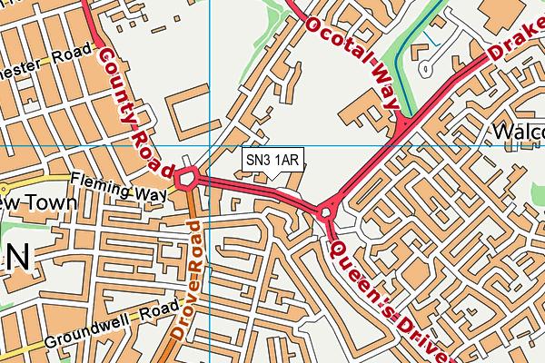 Holy Cross Catholic Primary School map (SN3 1AR) - OS VectorMap District (Ordnance Survey)