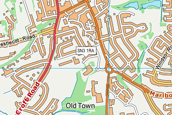 Croft Sports Centre map (SN3 1RA) - OS VectorMap District (Ordnance Survey)