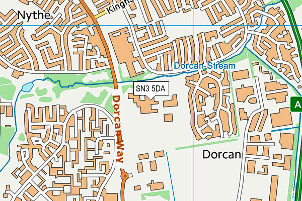 Dorcan Recreation Complex map (SN3 5DA) - OS VectorMap District (Ordnance Survey)