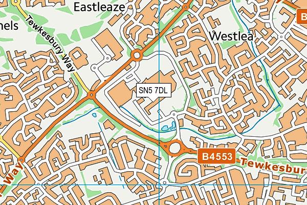 Link Centre map (SN5 7DL) - OS VectorMap District (Ordnance Survey)