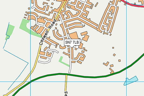 Faringdon Leisure Centre map (SN7 7LB) - OS VectorMap District (Ordnance Survey)
