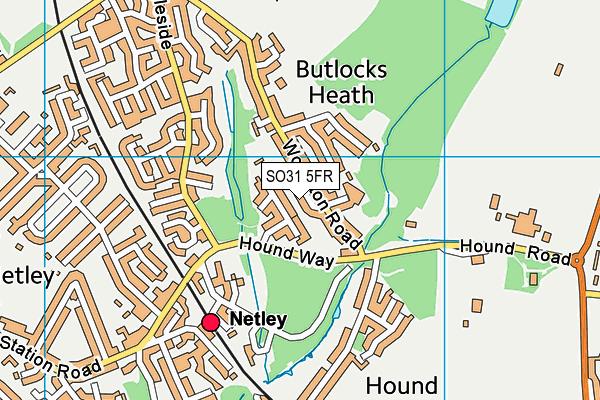 Butlocks Heath map (SO31 5FR) - OS VectorMap District (Ordnance Survey)