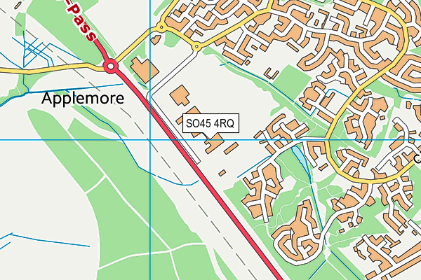 Oak Lodge School map (SO45 4RQ) - OS VectorMap District (Ordnance Survey)