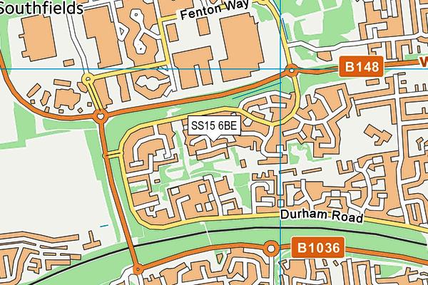SS15 6BE map - OS VectorMap District (Ordnance Survey)