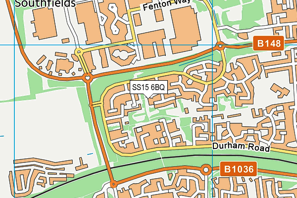 SS15 6BQ map - OS VectorMap District (Ordnance Survey)