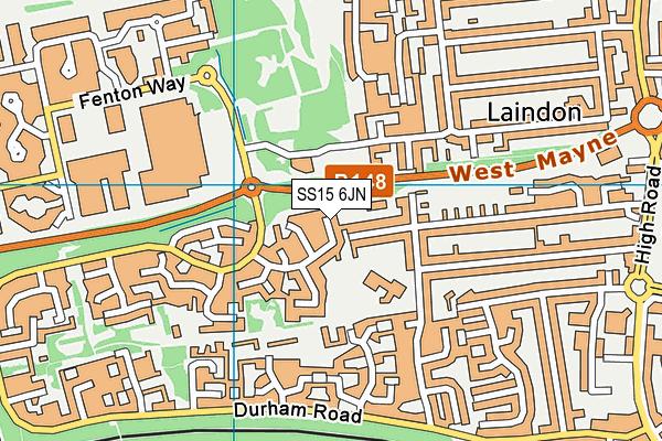 SS15 6JN map - OS VectorMap District (Ordnance Survey)