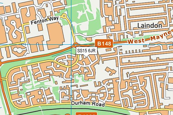 SS15 6JR map - OS VectorMap District (Ordnance Survey)