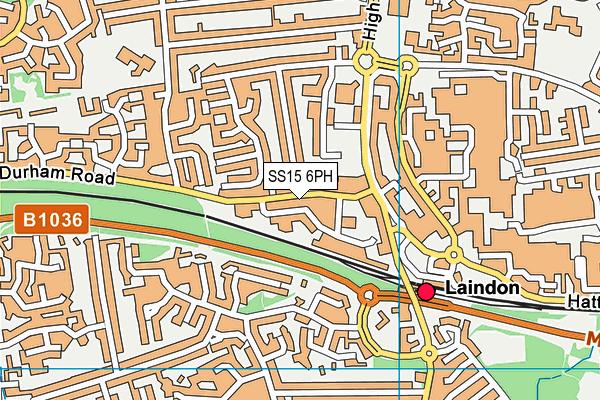 SS15 6PH map - OS VectorMap District (Ordnance Survey)