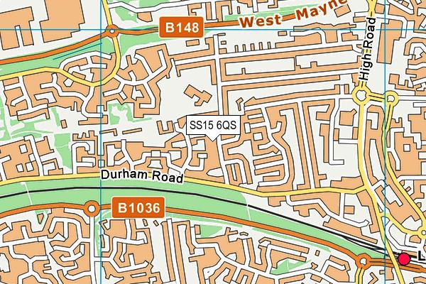 Merrylands Primary School map (SS15 6QS) - OS VectorMap District (Ordnance Survey)