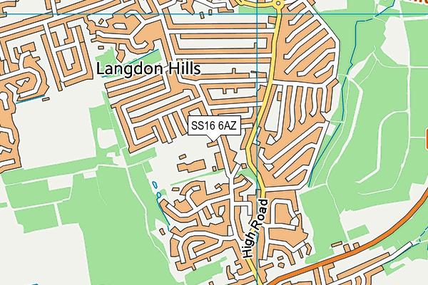 Lincewood Primary School map (SS16 6AZ) - OS VectorMap District (Ordnance Survey)