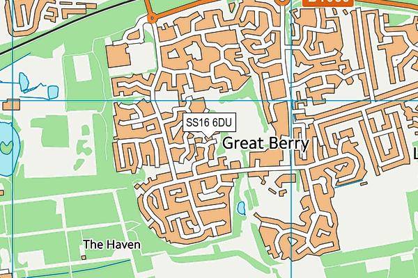 Great Berry Open Space map (SS16 6DU) - OS VectorMap District (Ordnance Survey)