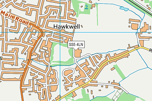 Clements Hall Leisure Centre map (SS5 4LN) - OS VectorMap District (Ordnance Survey)
