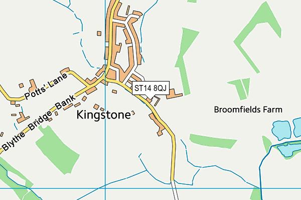 Talbot First School map (ST14 8QJ) - OS VectorMap District (Ordnance Survey)