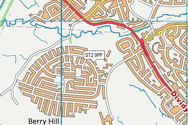 Eaton Park Academy map (ST2 9PF) - OS VectorMap District (Ordnance Survey)