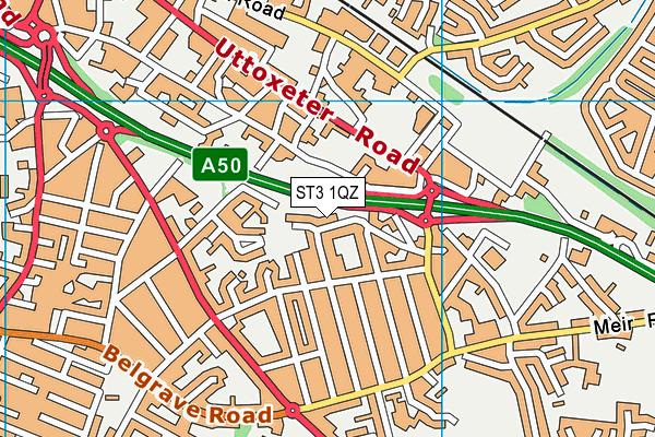 Westfield Nursery School Map St3 1qz Os Vectormap District Ordnance Survey