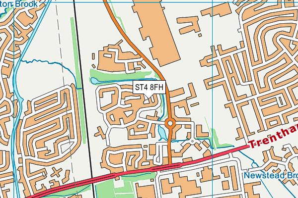 ST4 8FH map - OS VectorMap District (Ordnance Survey)