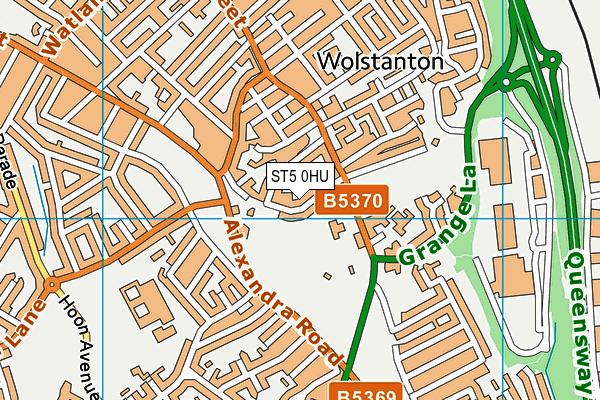 St Margaret's CofE (VC) Junior School map (ST5 0HU) - OS VectorMap District (Ordnance Survey)