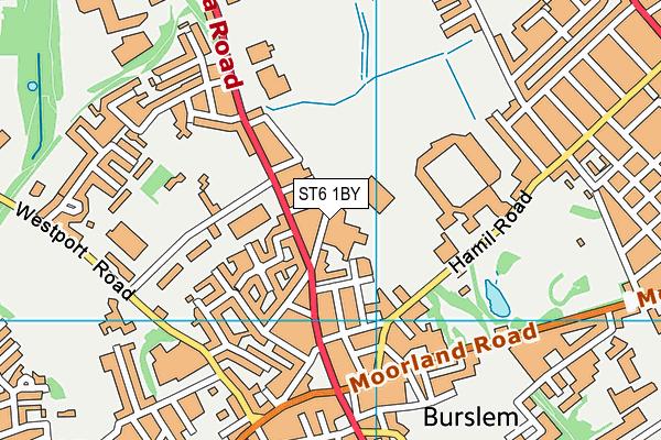 Bycars Park map (ST6 1BY) - OS VectorMap District (Ordnance Survey)