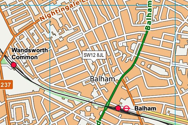 Balham Nursery School Children S Centre Map Sw12 8jl Os Vectormap District