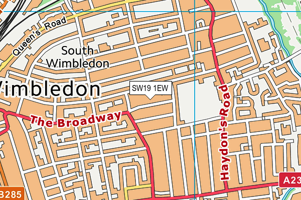 Wimbledon Leisure Centre and Spa map (SW19 1EW) - OS VectorMap District (Ordnance Survey)