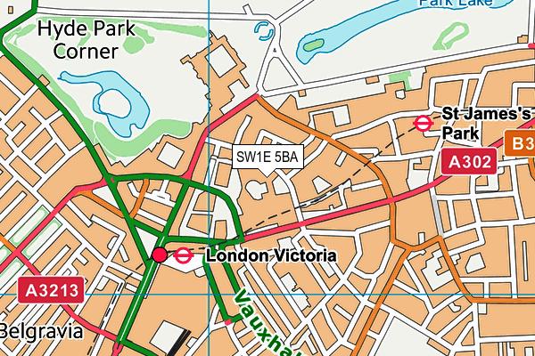 SW1E 5BA map - OS VectorMap District (Ordnance Survey)