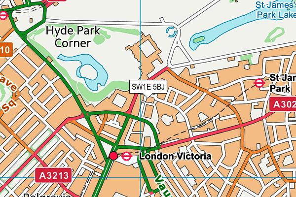 SW1E 5BJ map - OS VectorMap District (Ordnance Survey)