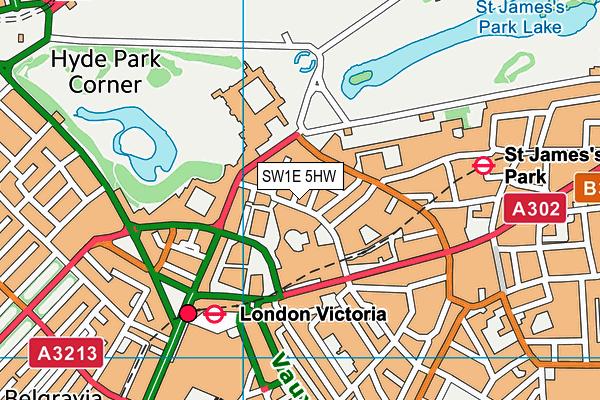 SW1E 5HW map - OS VectorMap District (Ordnance Survey)