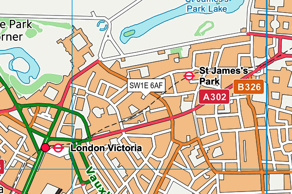 Wellness Centre (Taj 51) map (SW1E 6AF) - OS VectorMap District (Ordnance Survey)