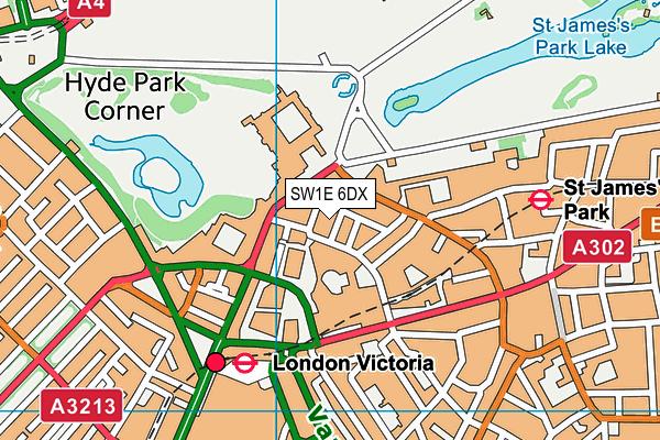 SW1E 6DX map - OS VectorMap District (Ordnance Survey)