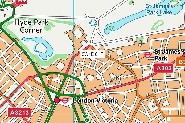 SW1E 6HF map - OS VectorMap District (Ordnance Survey)